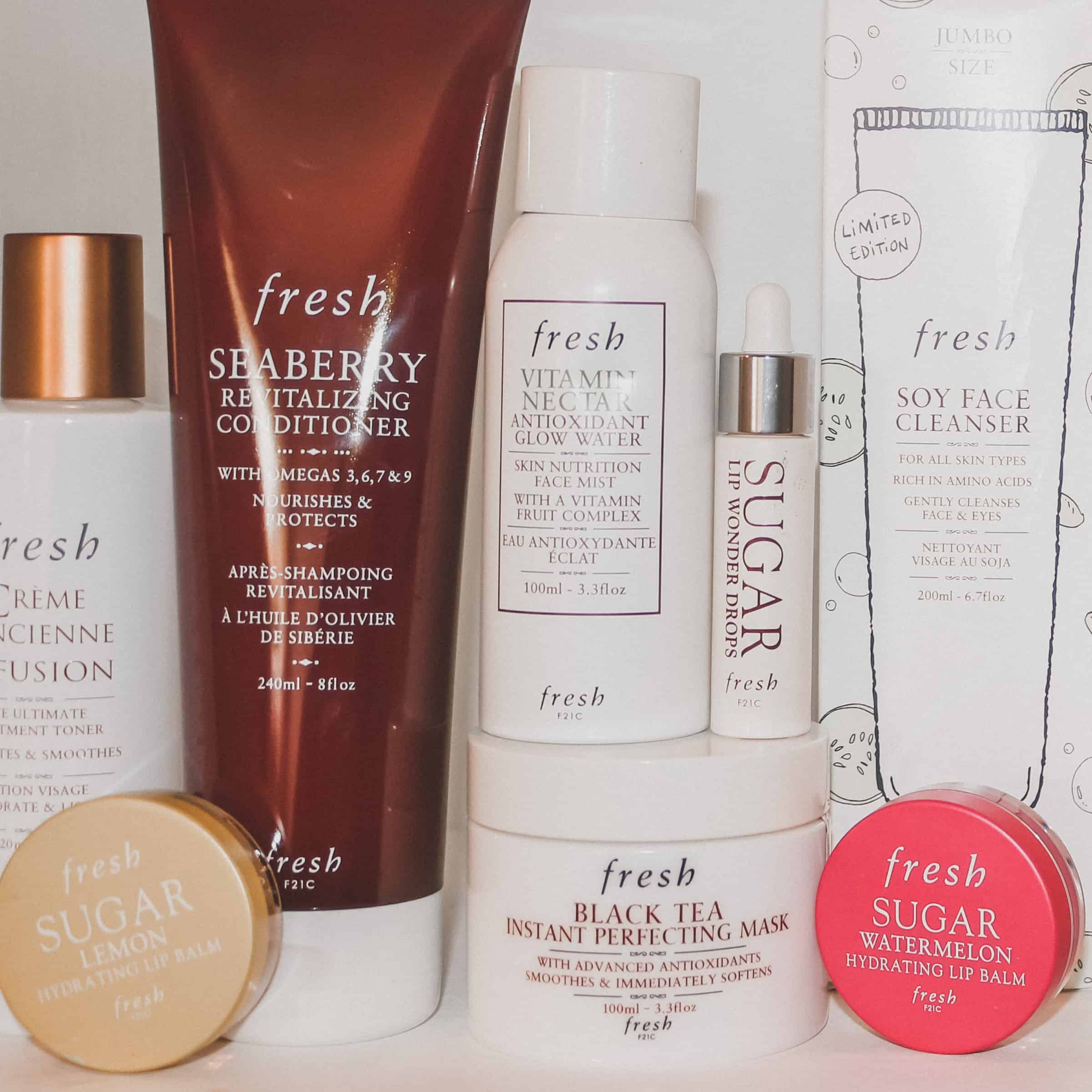 shelfie featuring fresh beauty products