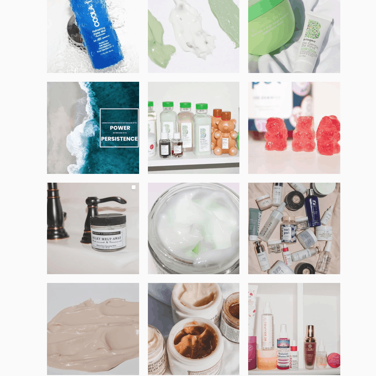 skincare instagram feed photo