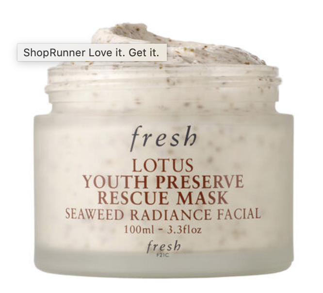 fresh beauty lotus youth preserve rescue mask