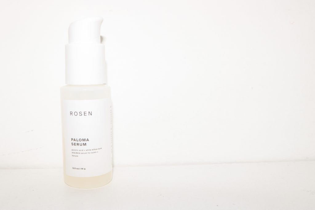 a rosen skincare product that didn't quite work: their paloma serum, made with AHAs