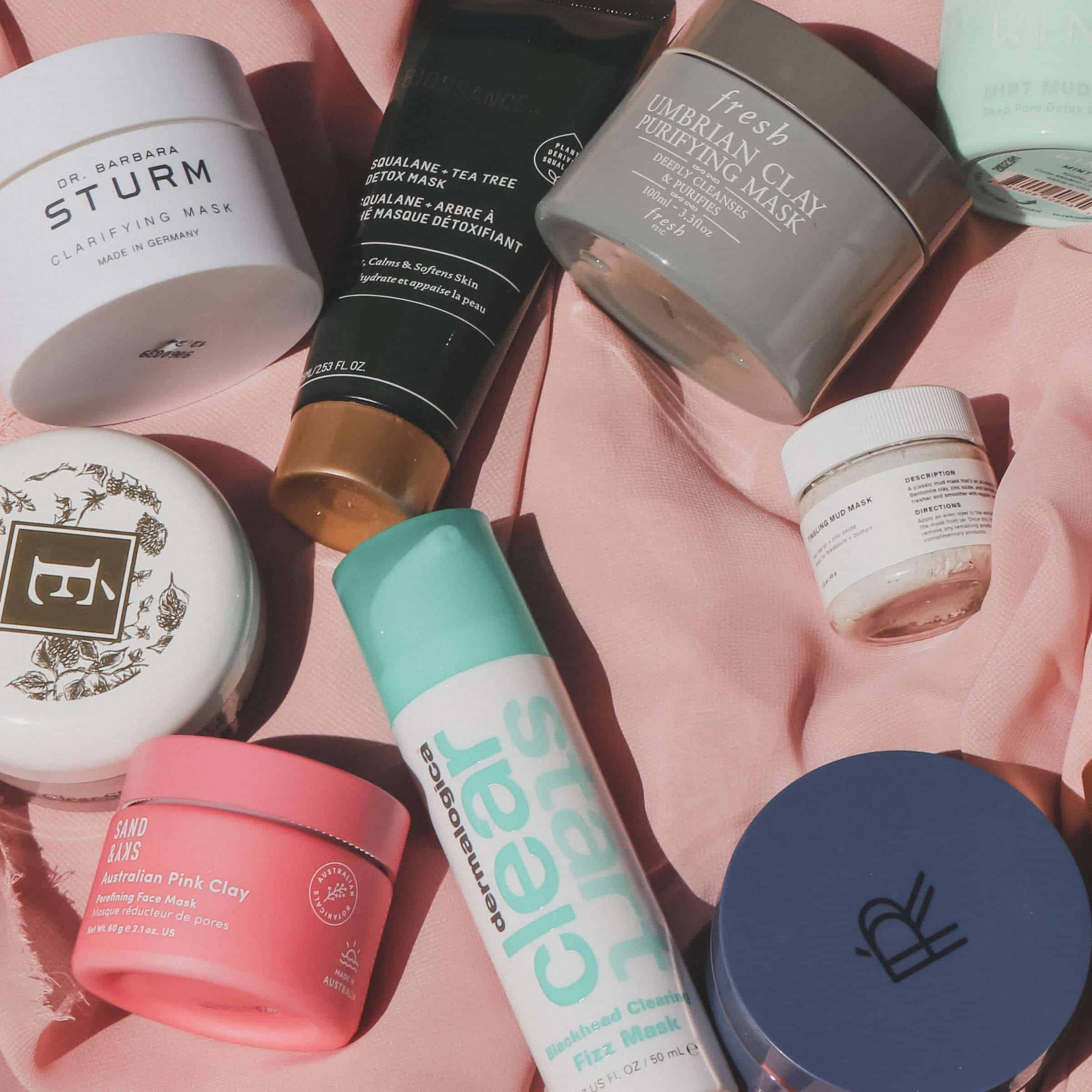 face masks for acne flatlay